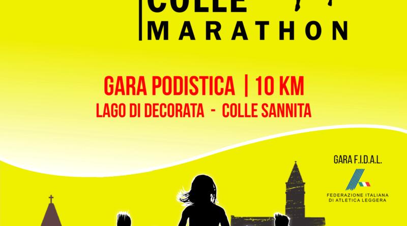Locandina IV edizione DECO-COLLE Marathon
