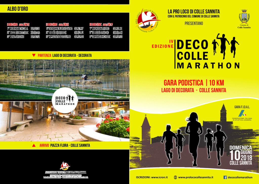 IV edizione DECO-COLLE Marathon