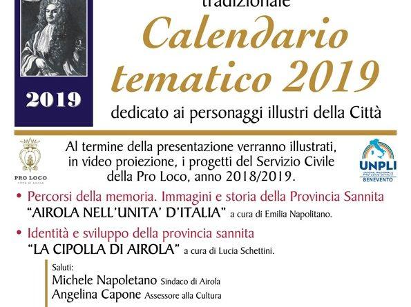 Calendario tematico 2019